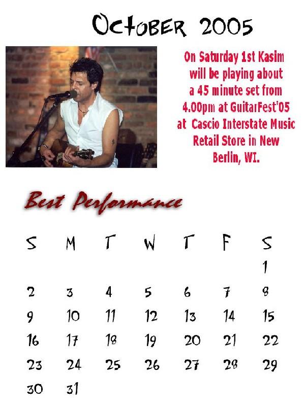 Kasim Sulton Calendar
