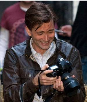 David Tennant filming Single Father on 22/3/10