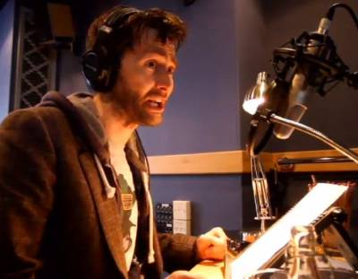 David Tennant recording The Itch Of The Golden Nit