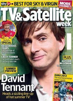 David Tennant on front cover of TV and Satellite Week  magazine