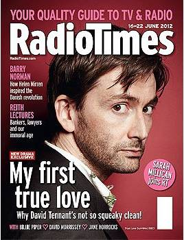 David Tennant on the front cover of the Radio Times