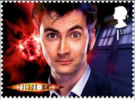 David Tennant on Doctor Who 50th Anniversary stamp