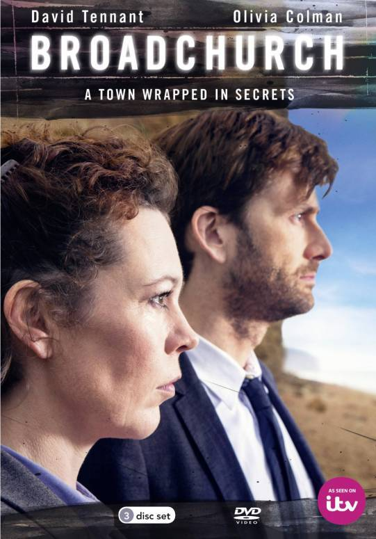 David Tennant and Olivia Colman on cover of Broadchurch DVD