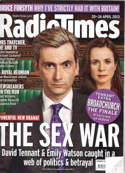 David Tennant on front of Radio Times about The Politician's Husband