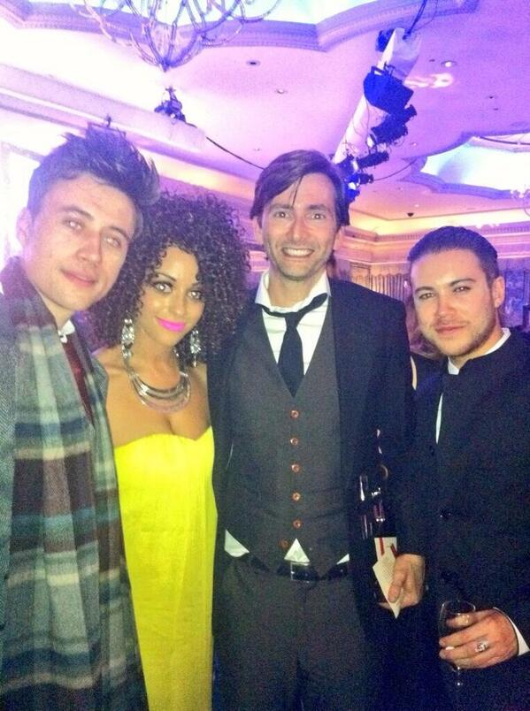 David Tennant with members of the cast of Waterloo Road