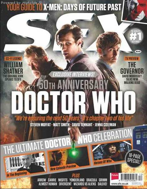 David Tennant on cover of SFX magazine